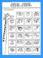 Atividades sobre alfabeto