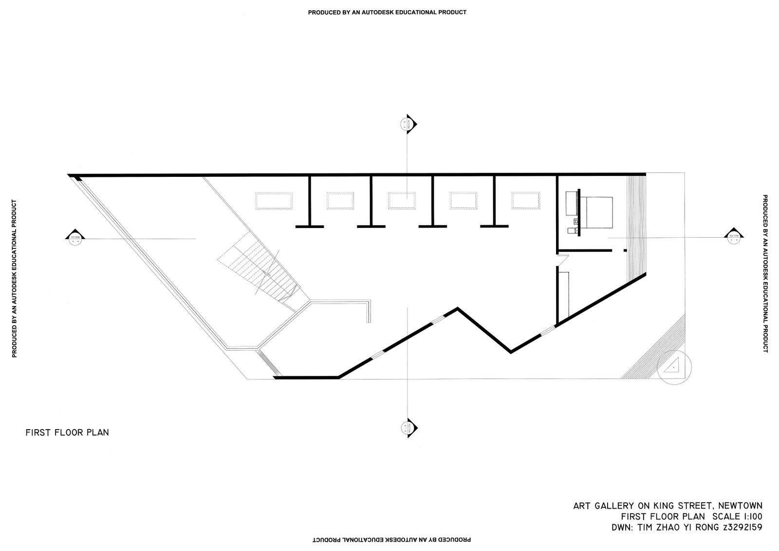 small art gallery floor plan