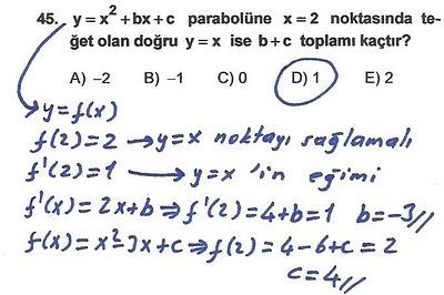 2010 lys matematik 45. soru ve çözümü