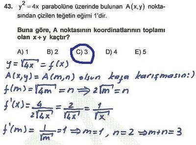 2010 lys matematik 43. soru ve çözümü