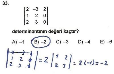 2010 lys matematik 33. soru ve çözümü