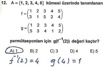 2010 lys matematik 12. soru ve çözümü