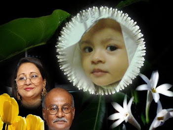 With my grand mother + father