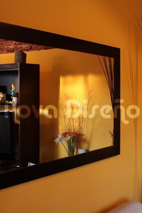 Nova dise o espejo wengue moderno minimalista for Espejo marco wengue