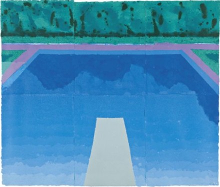 Megan cerullo artist david hockney autumn pool paper - David hockney swimming pool paintings ...