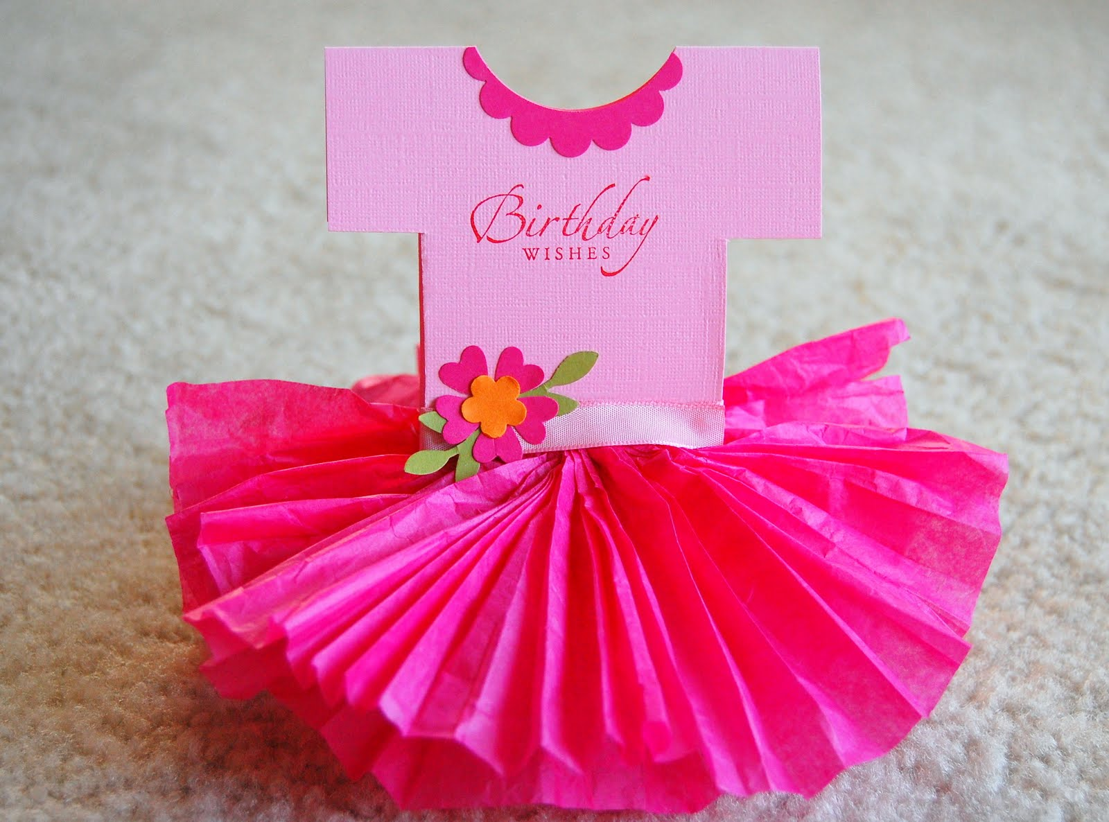 Baby Birthday Dress Tutu Tutu Dress Birthday Card