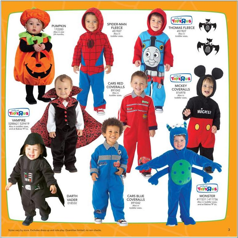 toys r us halloween catalog