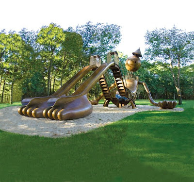Tin Man Playground by Tom Otterness