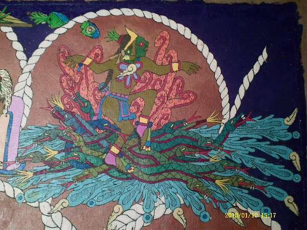 Sacrificio de Quetzalcoatl en Tlilan Tlapallan