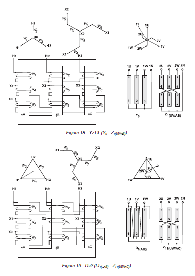 technical data bank of electrical engineering  transformer symbols  u0026 winding connections