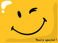 Winkin smiley that says You're special on it