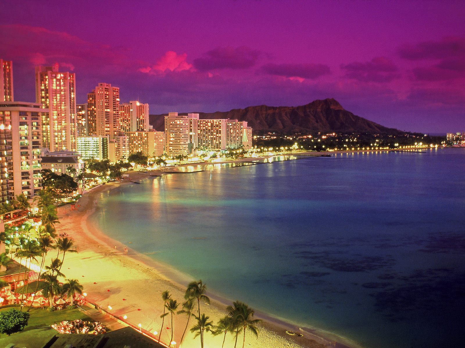 Waikiki at Dusk Hawaii