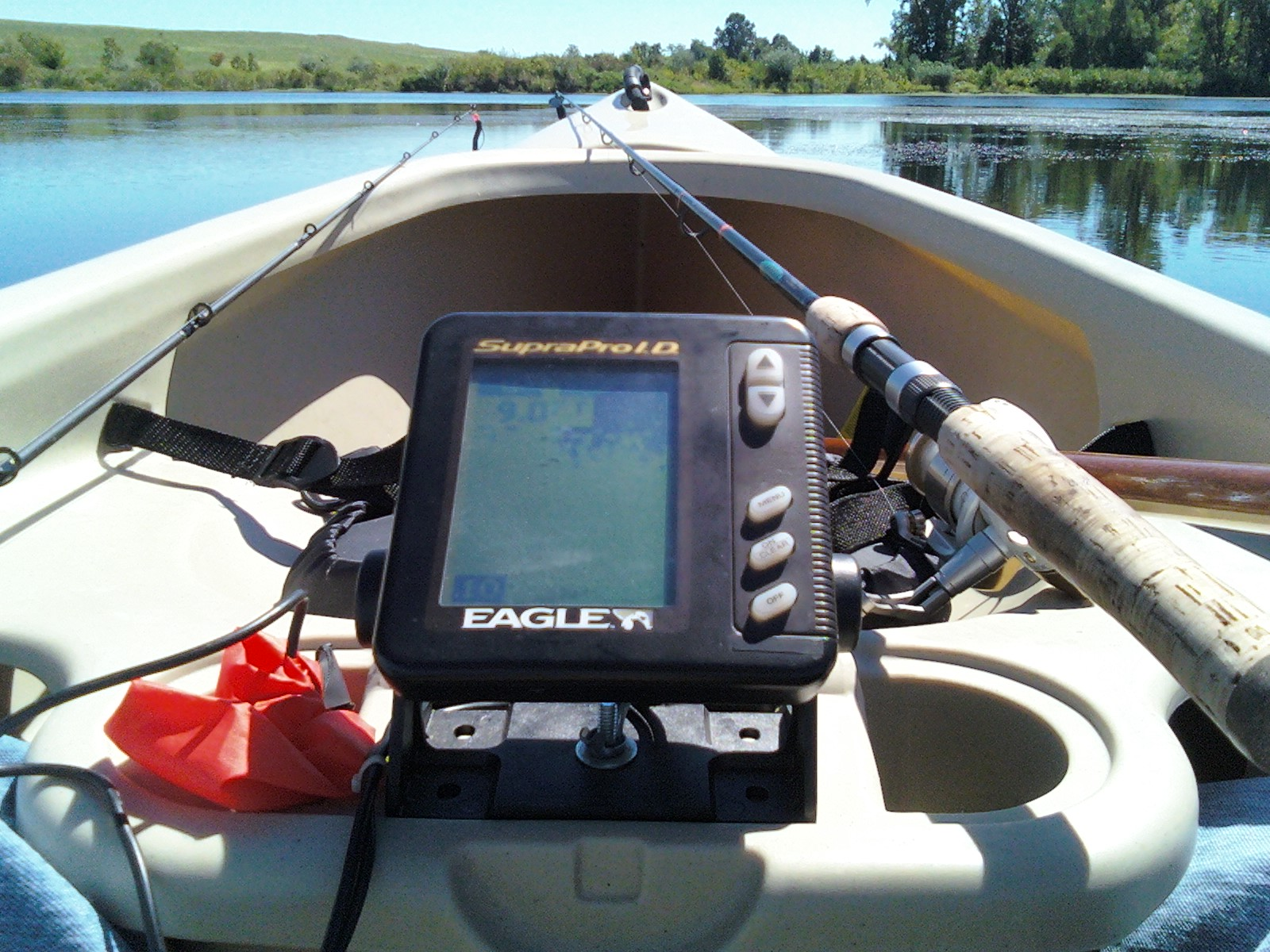 justin and fish: fish finder install in the mad river passage 14 canoe, Fish Finder