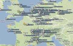 Trafic aérien FRANCE & Europe -  Ecran radar des avions commerciaux en vol