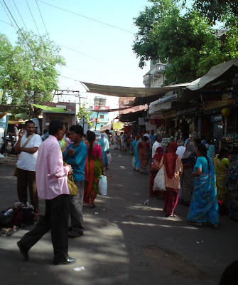 Crowded lane leading to the Brahma Temple - Pushkar