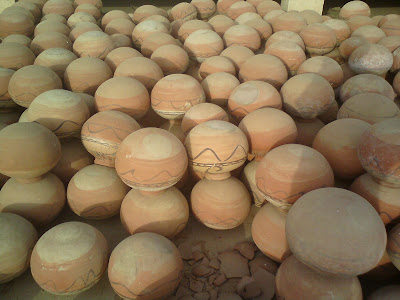 Earthen pot known as Matka or Ghada in a village home in Rajasthan