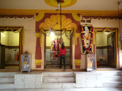 Idol of Goddess Laxmi in the sanctum
