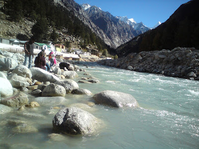 River Bhagirathi in  Gangotri - Char Dham