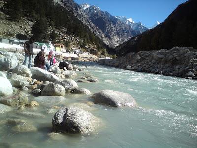 River Bhagirathi in  Gangotri - Char Dham