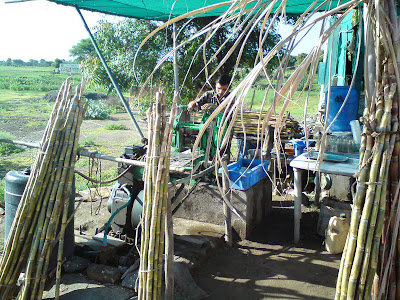 A Sugarcane juice shop on the way from Mumbai to Shirdi