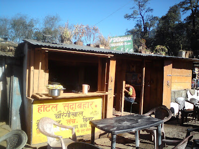 The humble dhaba where I had my breakfast - Chowrangikhal, en route to Badrinath from Uttarkashi