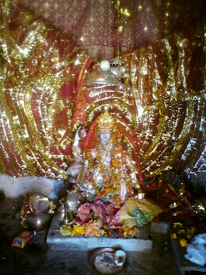 Idol of Maa Jagdamba at the local Temple at Kemundakhal