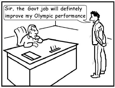 olympic contingent, beijing olympics, government job