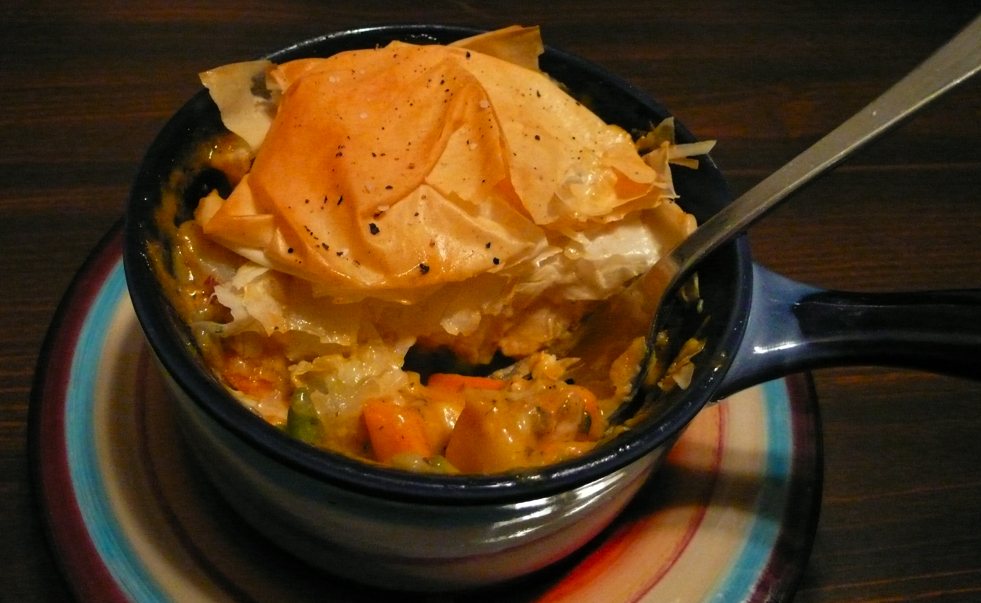 Marvelous ... Chicken Pot Pie (which I Do Love), This Pot Pie Uses A Phyllo Dough  Crust. Phyllo Dough Is Light And Crispy, And Typically Used In Greek Dishes  Such As ...