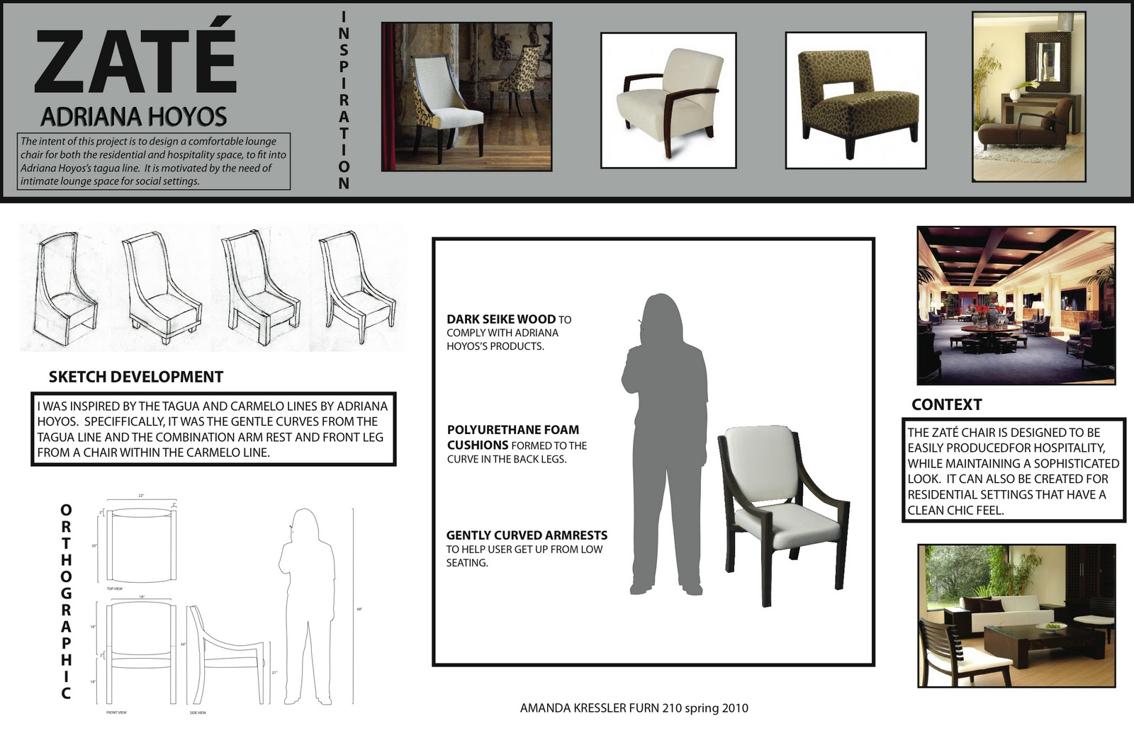 Furniture Design Presentation Board design studio: introduction to furniture | amanda kressler furniture