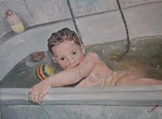 Ana en la bañera