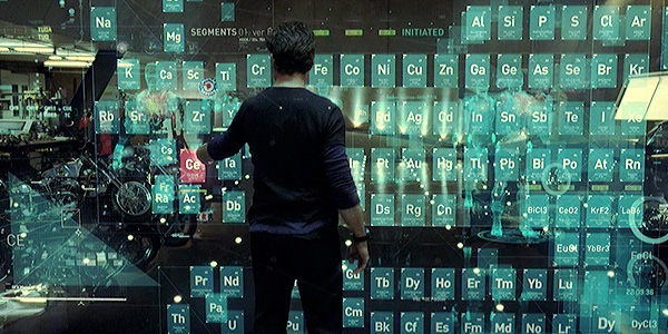 This is an interactive data visualisation of the periodic table    Iron Man Holographic Computer