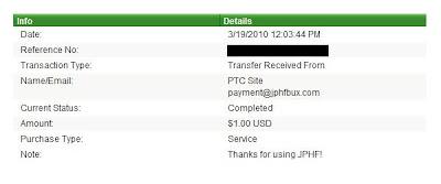 Pagamento JPHFBux - PTCs em Prática