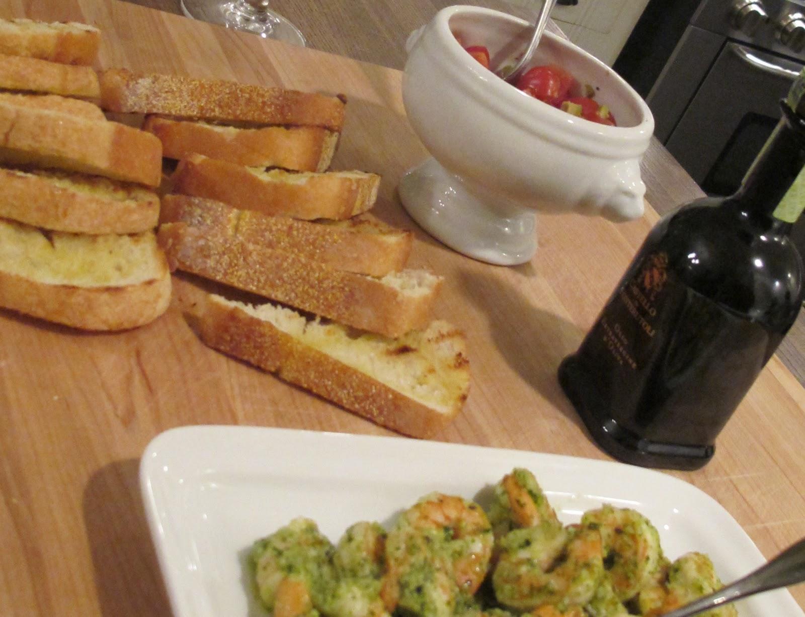 Jenny steffens hobick recipes shrimp pesto appetizer for Dinner party recipes for 12