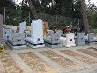 חלקות קבורה בבית העלמין הפרטי