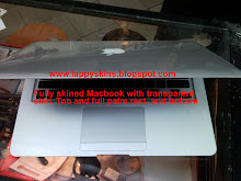 MacBook Air Fully Transparent skined