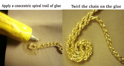 Gold Spiral Pendant Tutorial