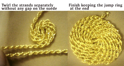 Golden Spiral Necklace Tutorial