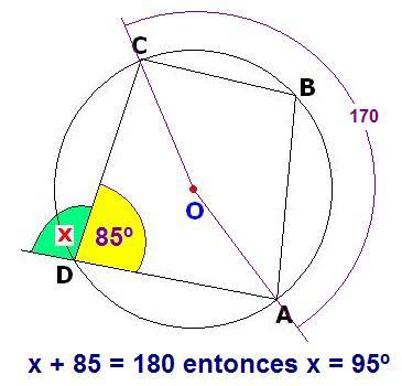 psu-matematicas: Desafío - Cuadrilátero Inscrito