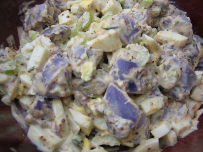 No TWD; Spiced Applesauce and Purple Potato Salad