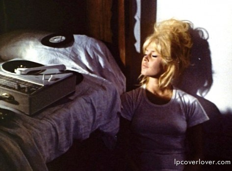 Brigitte Bardot with turntable