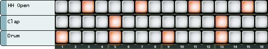 Programmation d'un beat 4/4 basique sur Redrum