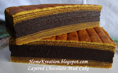 Homekreation Kitchen Corner Layered Chocolate Mud Cake