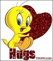 glad tweety hug