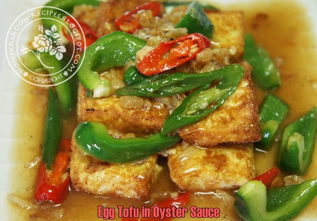 ... end there. I made this dish from the fried egg tofu.... nyummmmmmy