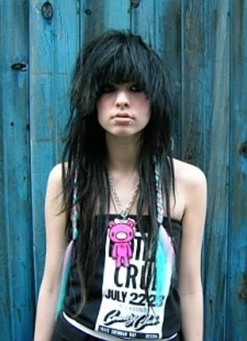 Emo girls with black hair