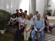 Com alunos na CITARA SAUDE