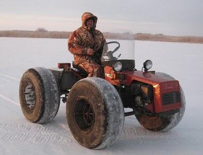 Вездеход-снегоход из мотоблока своими руками 8