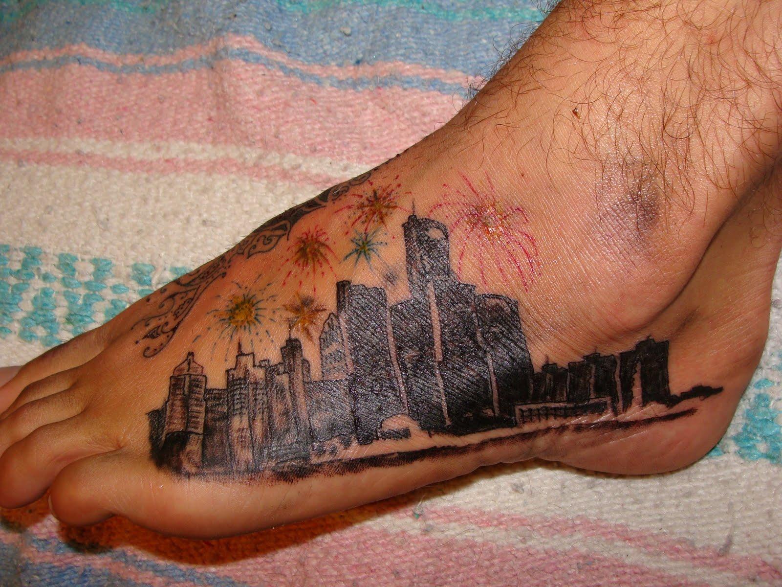 Ras moto tattoo detroit skyline for Tattoos in detroit