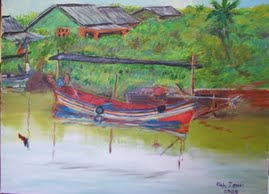 Traditional kelantan Fishing Boat