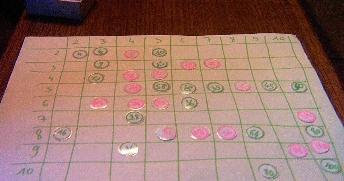Bricomaths jeu des multiplications - Jeu sur les tables de multiplication ...
